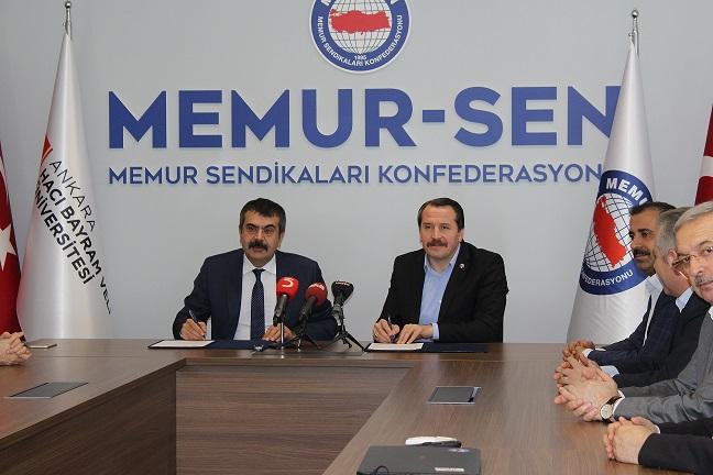 Ankara Hacı Bayram Veli Üniversitesi ile Memur-Sen arasında iş birliği protokolü imzalandı