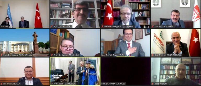Tekin'e Özbekistan'dan Fahri Doktora