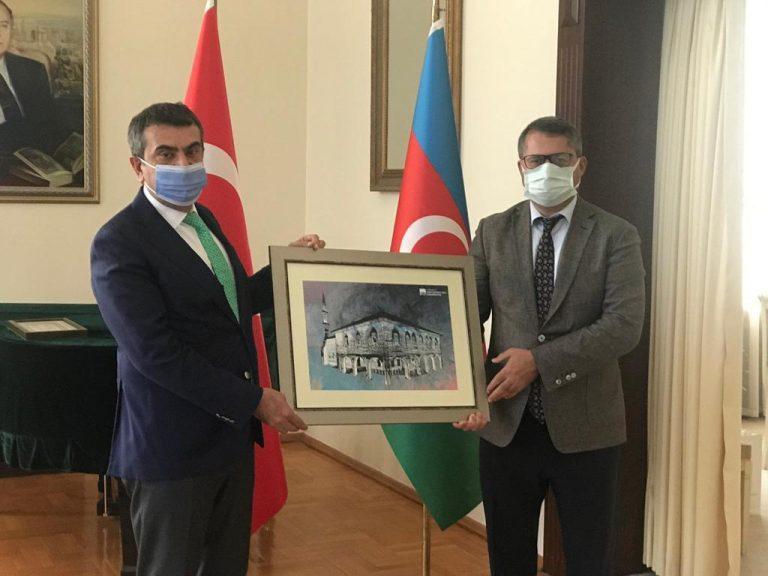 Rektör Tekin'den  Azerbaycan Büyükelçisi İbrahim'e ziyaret